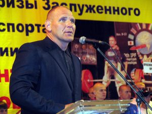 Alexander Karelin at opening ceremony